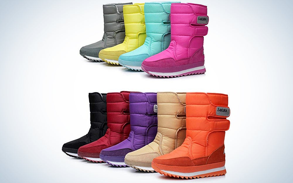 Dadawen Women's Waterproof Snow Boot