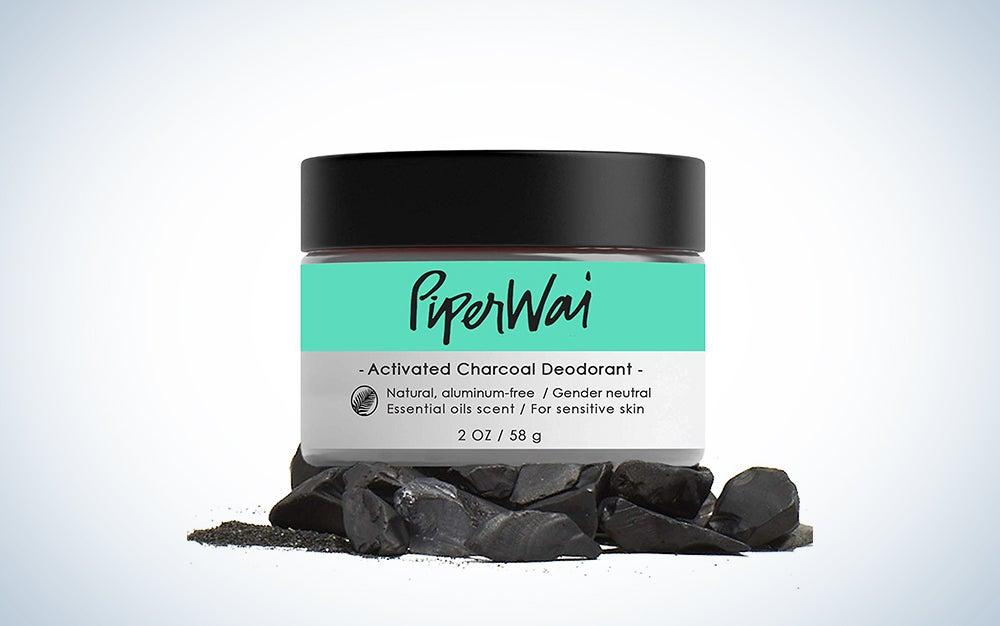 PiperWai, Natural Activated Charcoal Deodorant Jar