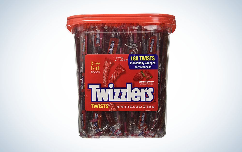 Tub of individually-wrapped Twizzlers