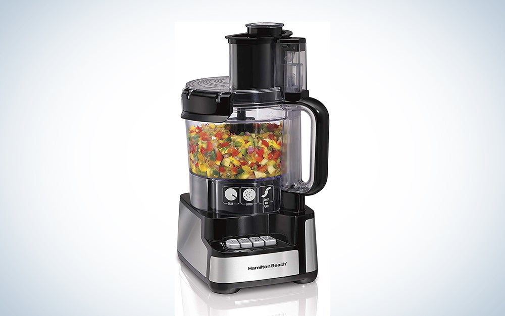 Hamilton Beach 12-Cup Stack & Snap Food Processor and Vegetable Chopper