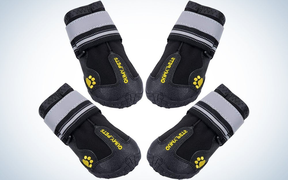 Qumy Dog Boots Waterproof Shoes for Large Dogs
