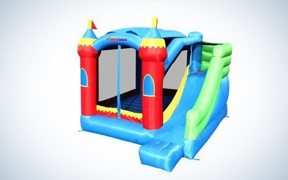 Royal Palace Inflatable Bounce House With Slide Bouncer