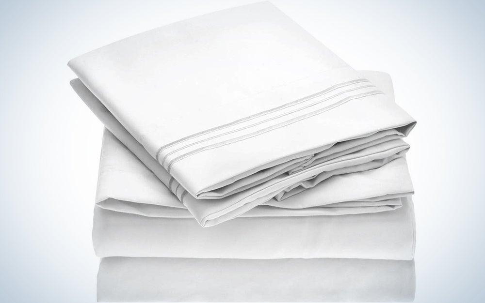 Mellanni Bed Sheet Set - Brushed Microfiber 1800 Bedding