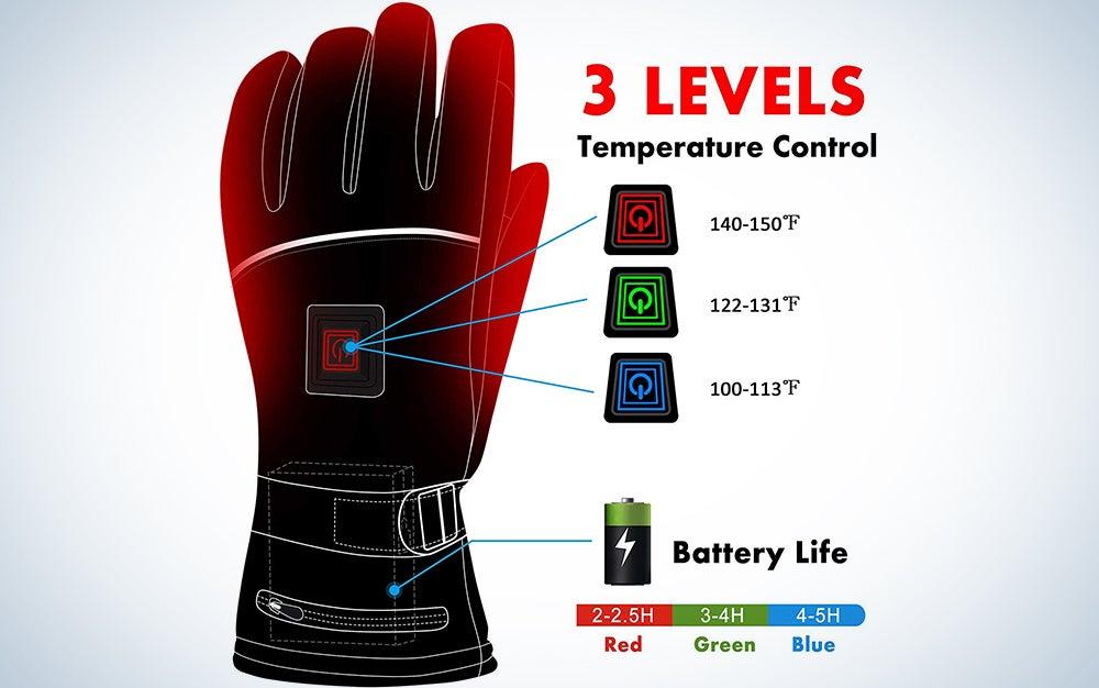 Heat Warmer Heated Gloves