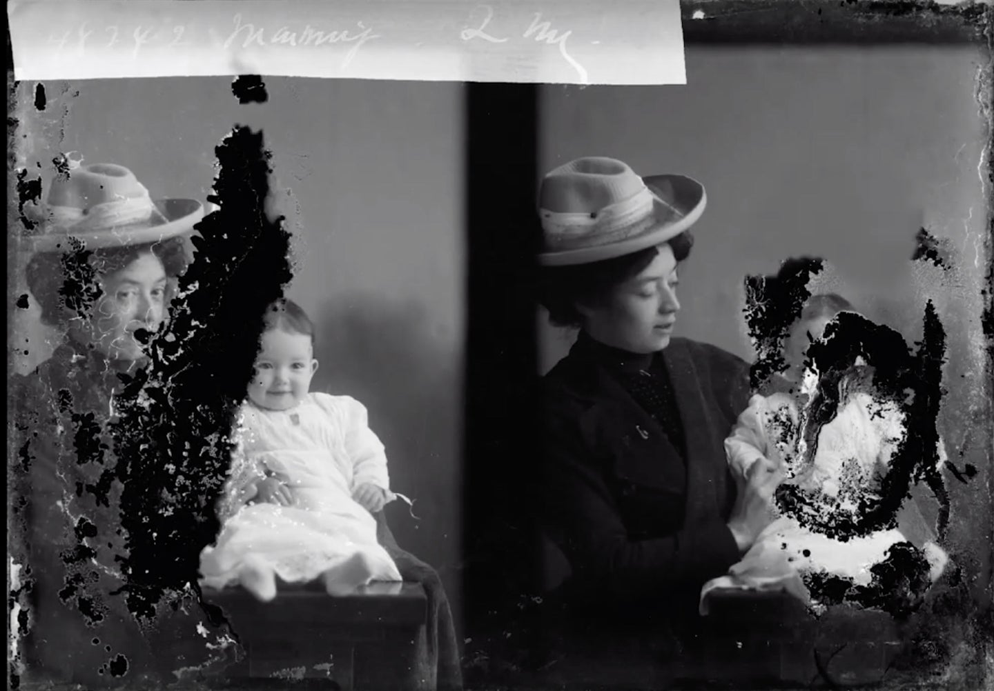 Watch an expert restore and colorize a damaged photograph from 1903