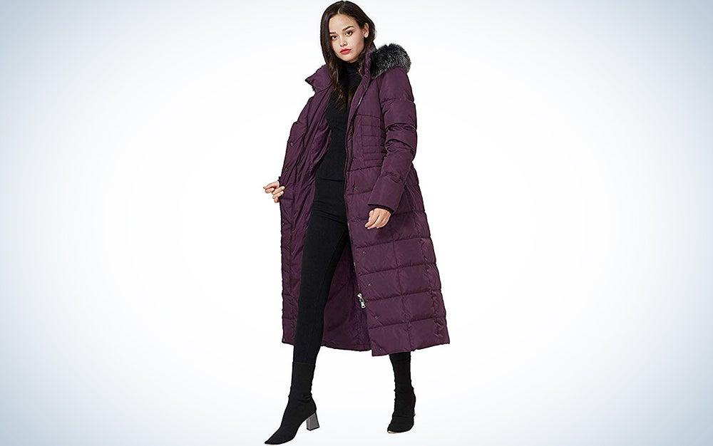 Molodo Women's Long Down Coat