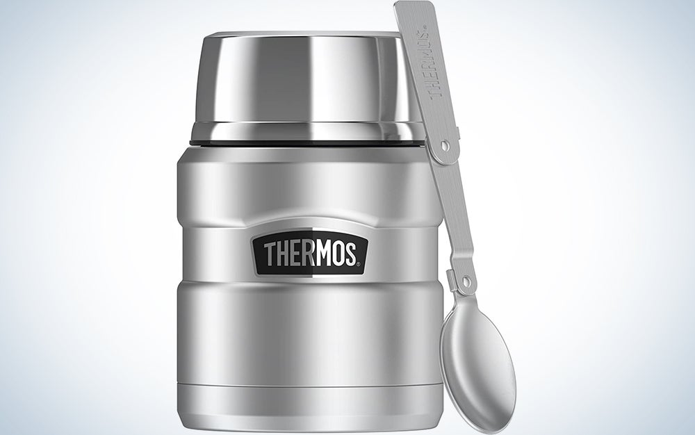 Thermos Stainless King 16 Ounce Food Jar with Folding Spoon