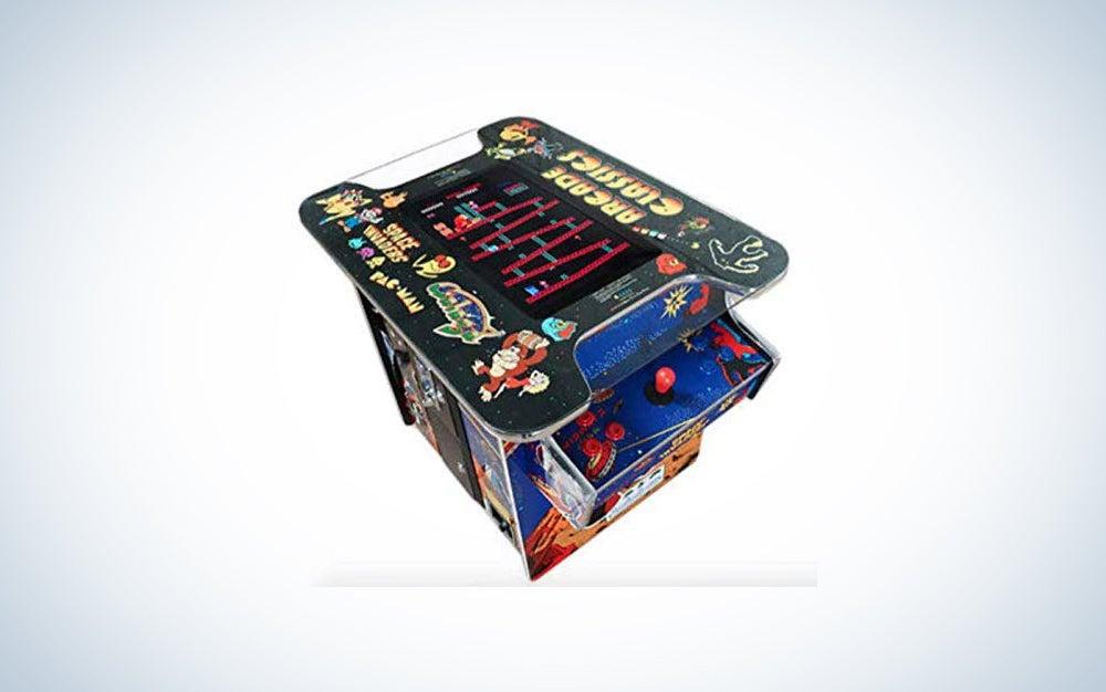 Creative Arcades Full-Size Commercial Grade Cocktail Arcade Machine | Trackball | 412 Classic Games | 2 Sanwa Joysticks | 2 Stools Included | 22