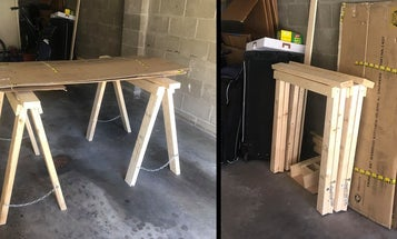 Create a portable workspace by building your own folding saw horses