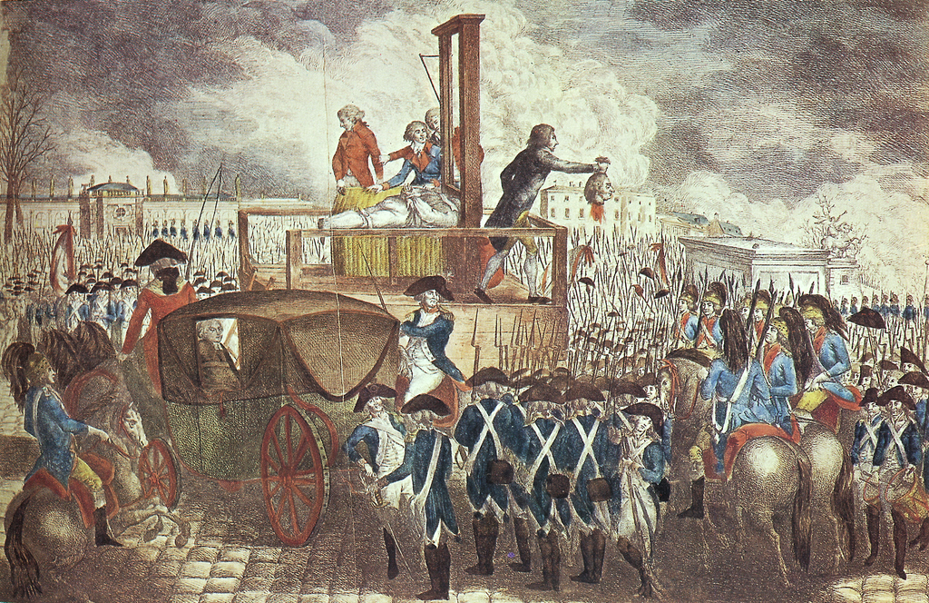 an engraving of the french revolution
