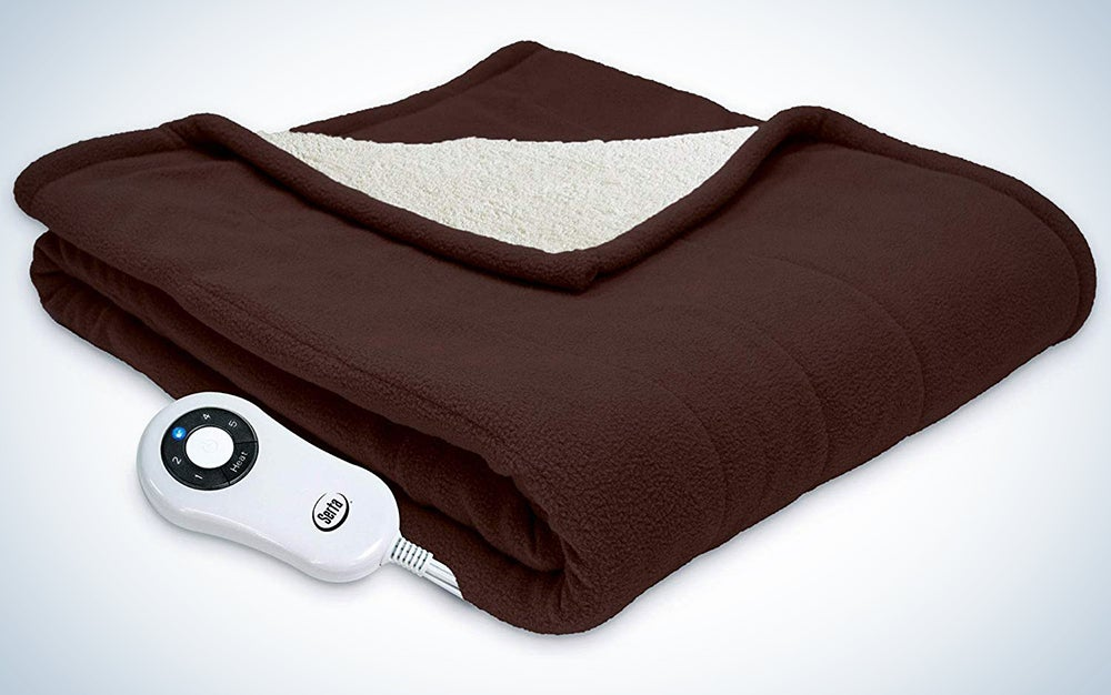 Serta Sherpa and Fleece Electric Blanket