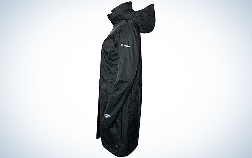 Columbia Women's Timber Pointe Trench Rain Long Hooded Waterproof Jacket