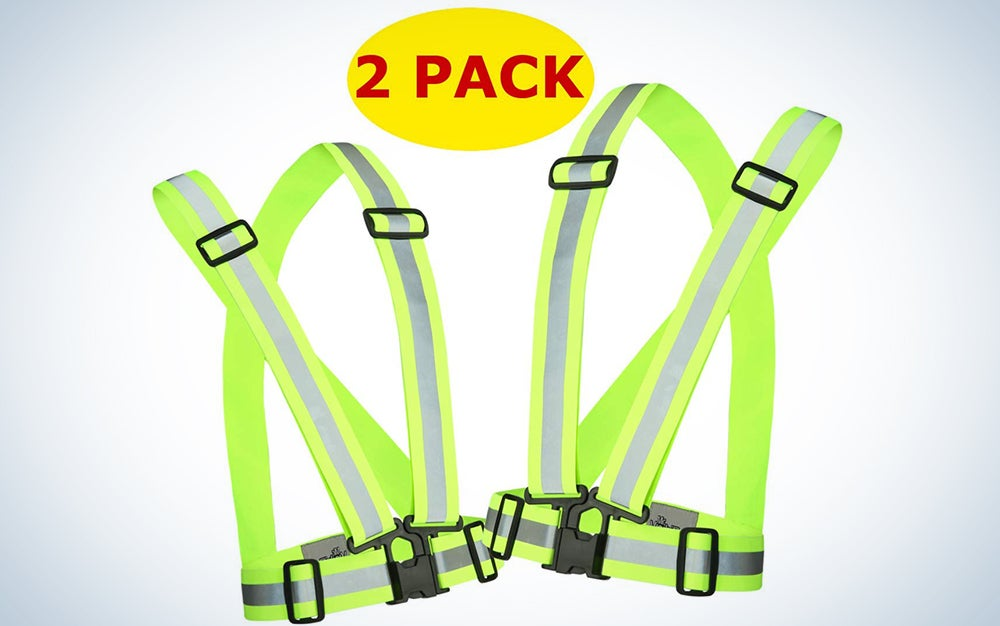 Reflective Running Vest Gear 2 Pack by Mr. Visibility