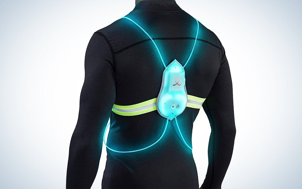 Tracer360 Reflective Vest with Multicolored LED Fiber Optics
