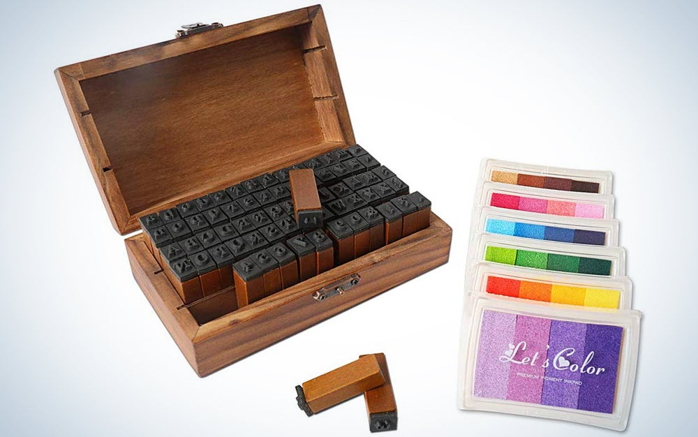 Huston Lowell Vintage Wooden Rubber Letter Number Stamp Set
