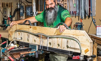 Step inside the workshop of one of the country's finest traditional bow makers