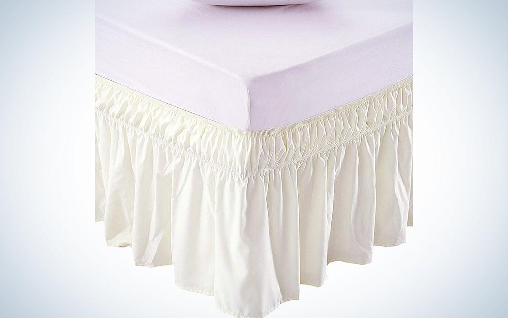 Meila Bed Skirt Three Fabric Sides Elastic Wrap