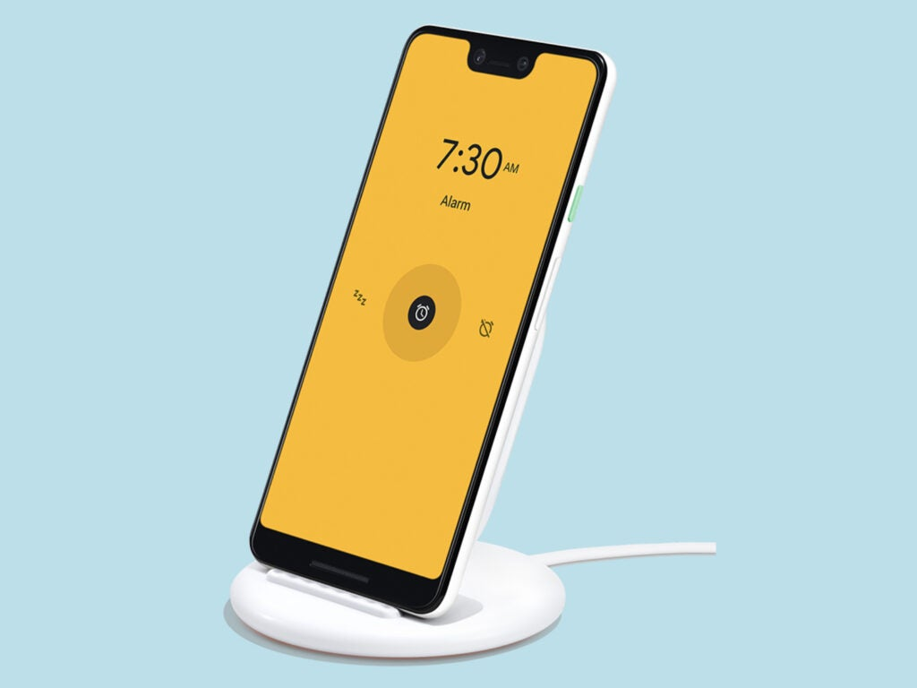 pixel 4 charging on wireless charger