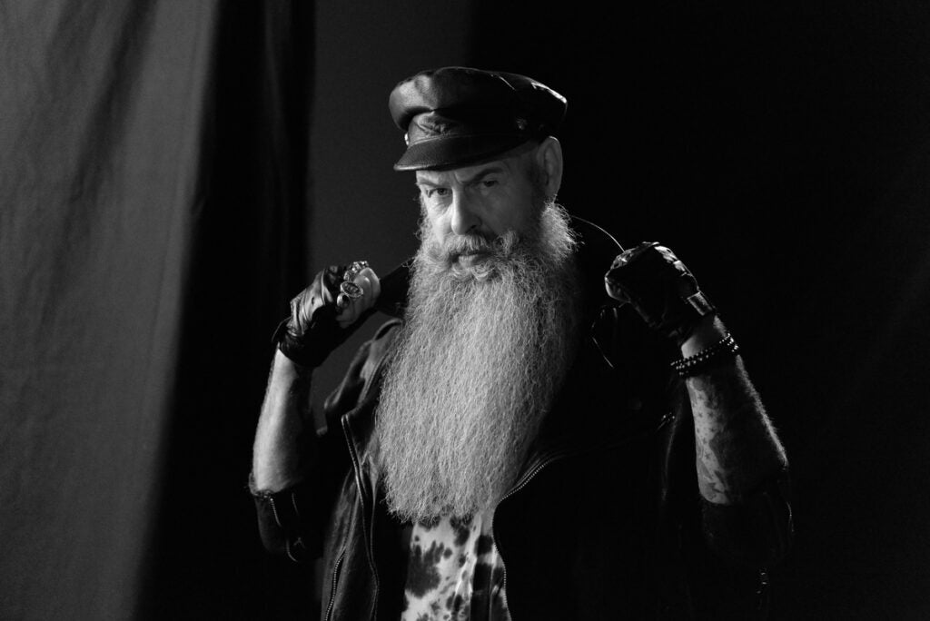 biker with long white beard