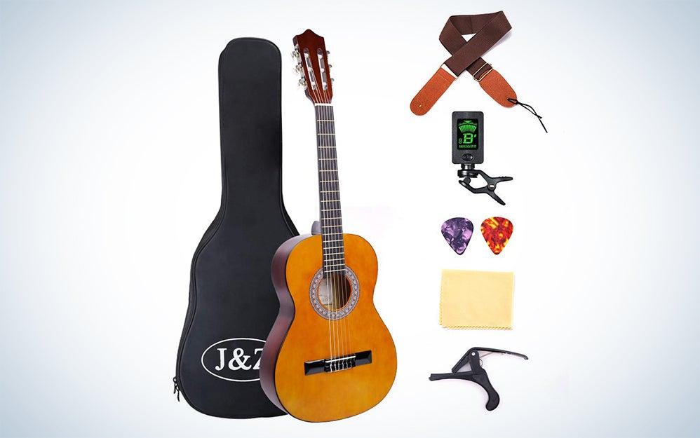 J&Z 3/4-Size Kids Classical Acoustic Guitar