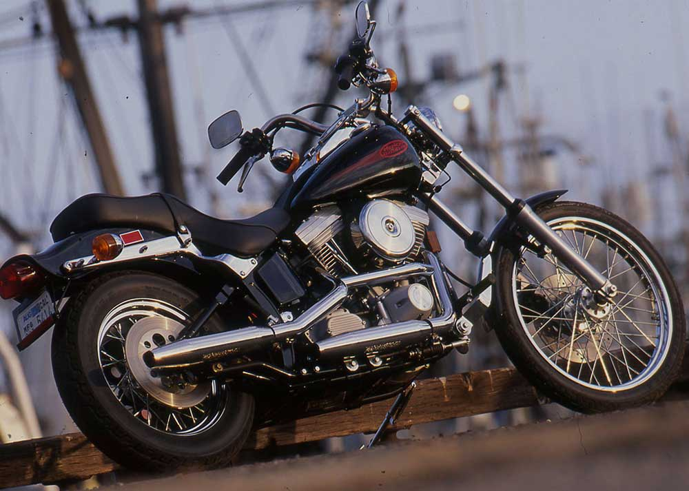 AKA the cheap chopper. If you enjoy working on and customizing your bikes to roll with the cool kids in town, an Evolution-era Softail is the quick-start solution. Easy to register and insure, few will be able to actually tell it's a stock Harley.