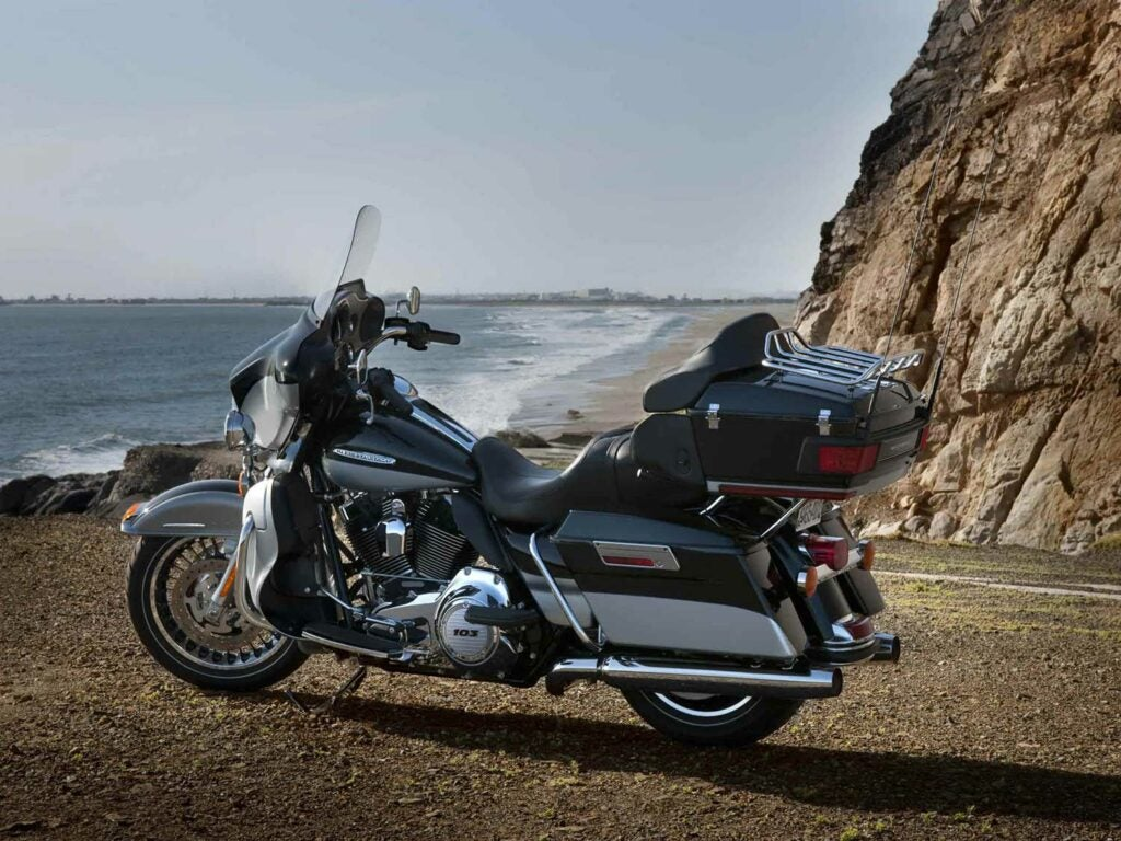 AKA the big deal! Be it an Ultra Limited, Road Glide Ultra, or any other Touring model, the 2009–2013 models were the ultimate long-haulers until being displaced by the Project Rushmore upgrades in 2014. Here's a secret: they're still really good bikes!