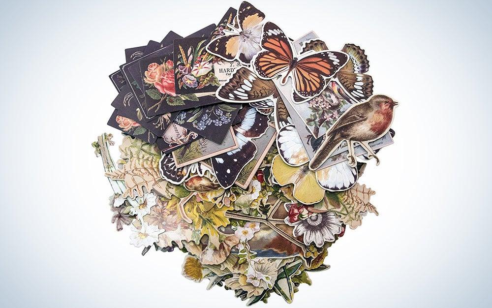 Tim Holtz Idea-ology Layers-Botanicals, 83 Pieces