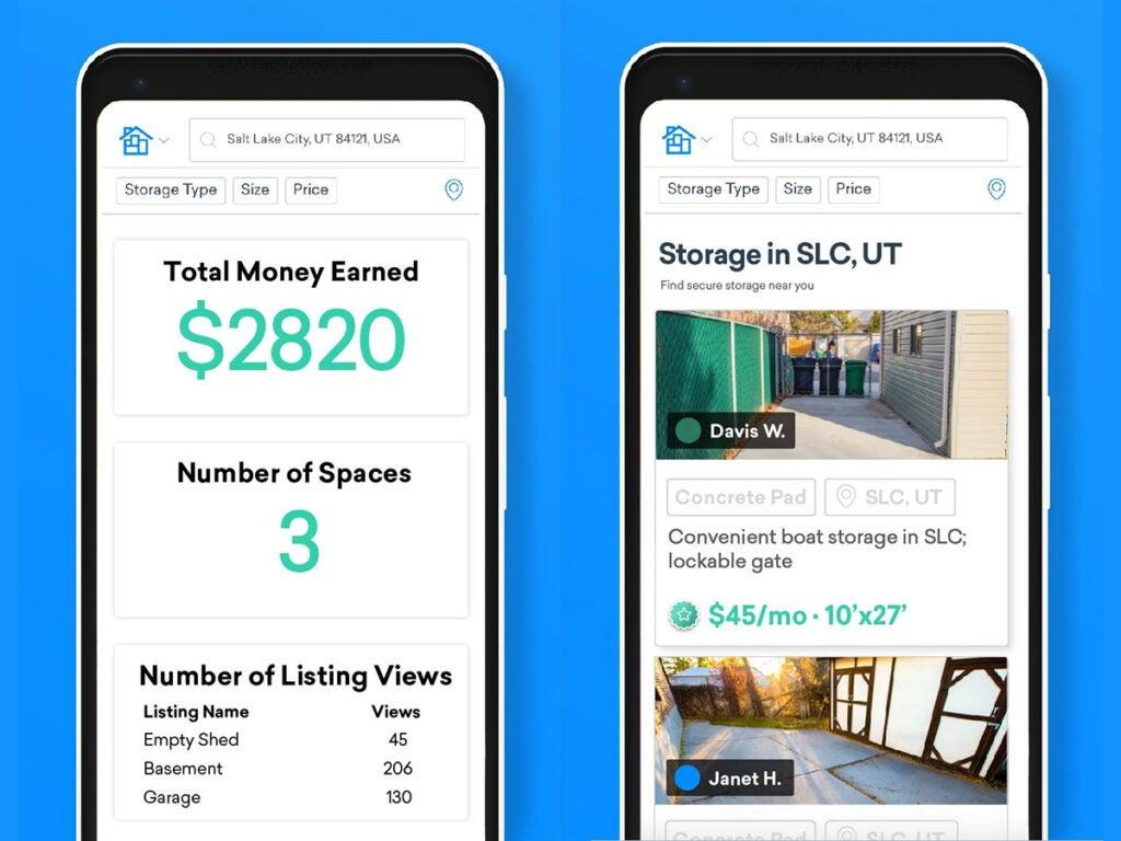 screenshots of the Neighbor app interface