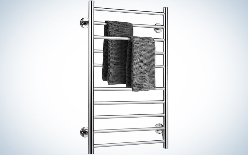 Tangkula Plug-in Wall Mounted Stainless Steel Towel Warmer