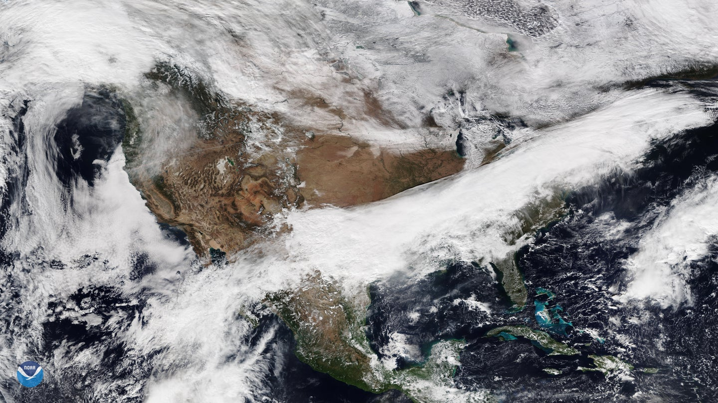 Arctic blast forming over the US.