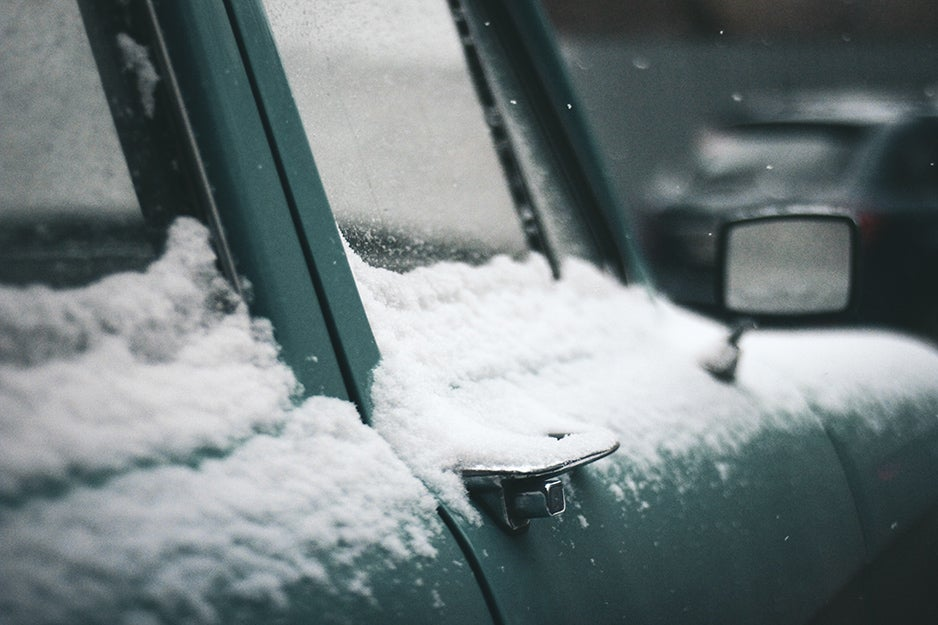 car with snow on it