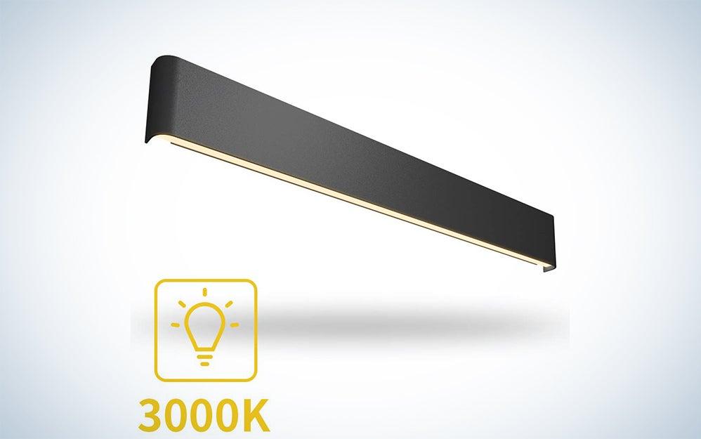Aipsun LED Matte Black Modern Wall Sconce
