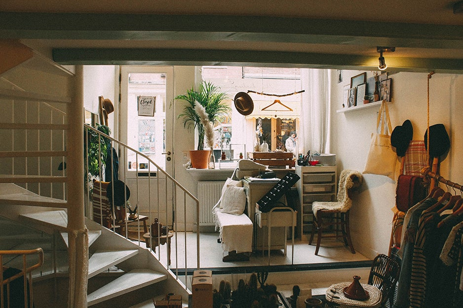 small cluttered apartment
