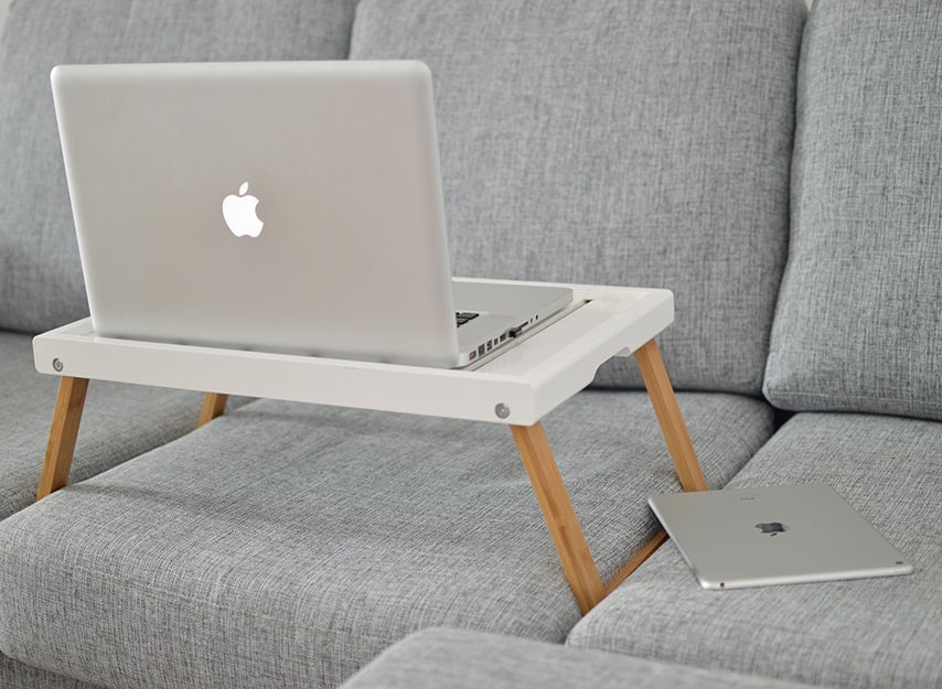 lap desk on a couch