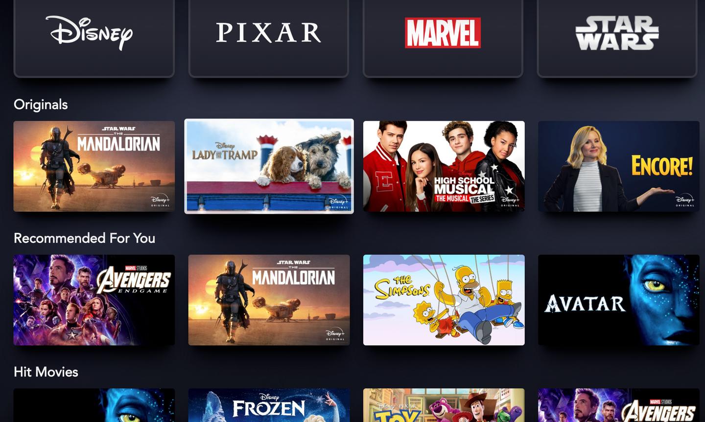 Disney Plus Star Wars Marvel Screen