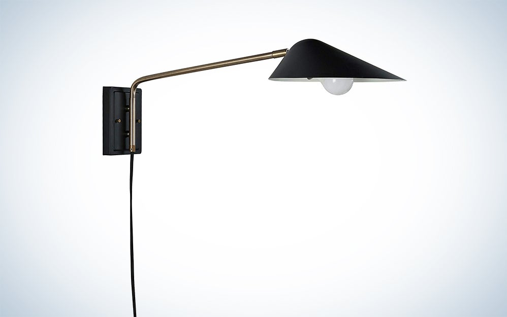 Rivet Mid-Century Swiveling Long Arms Wall Sconce with Bulb