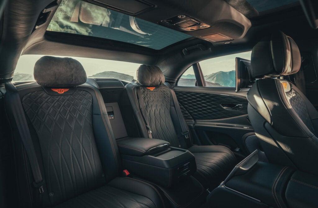Bentley rear seat.