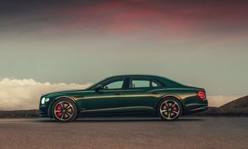 Bentley's Flying Spur has a 207-mph top speed and dedicated champagne holders