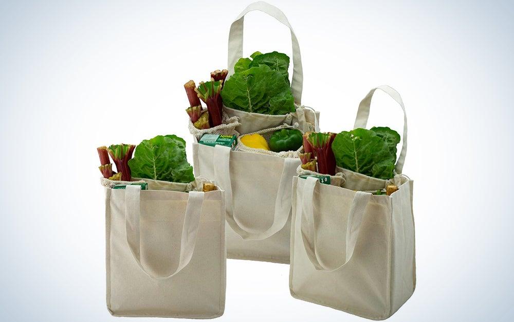 Simple Ecology Organic Cotton Reusable Shopping Bag