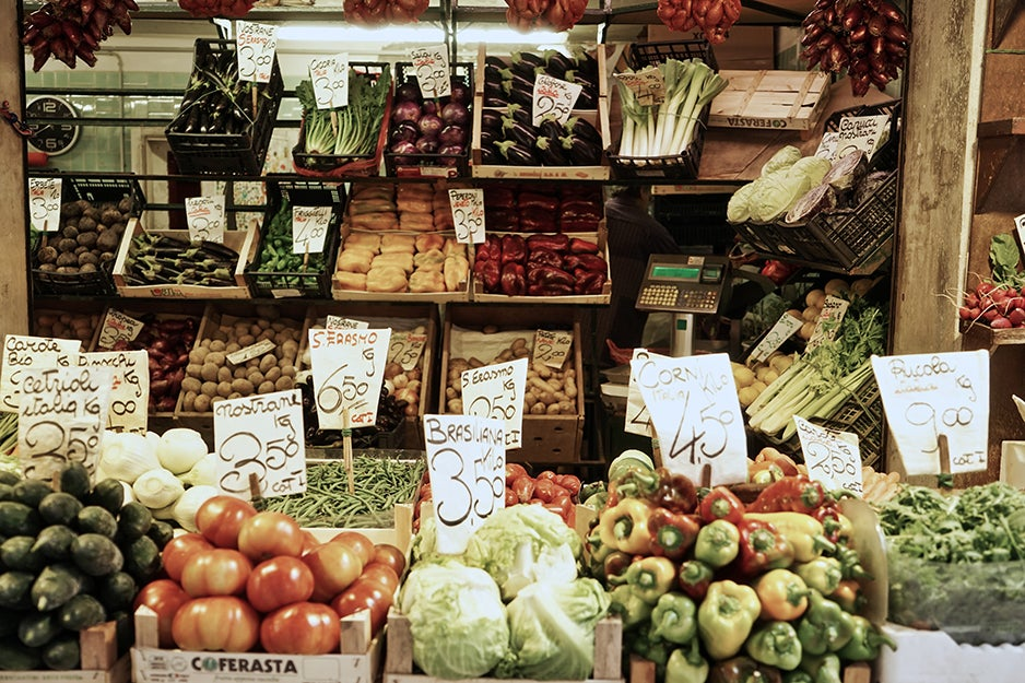 grocery stand with vegetables