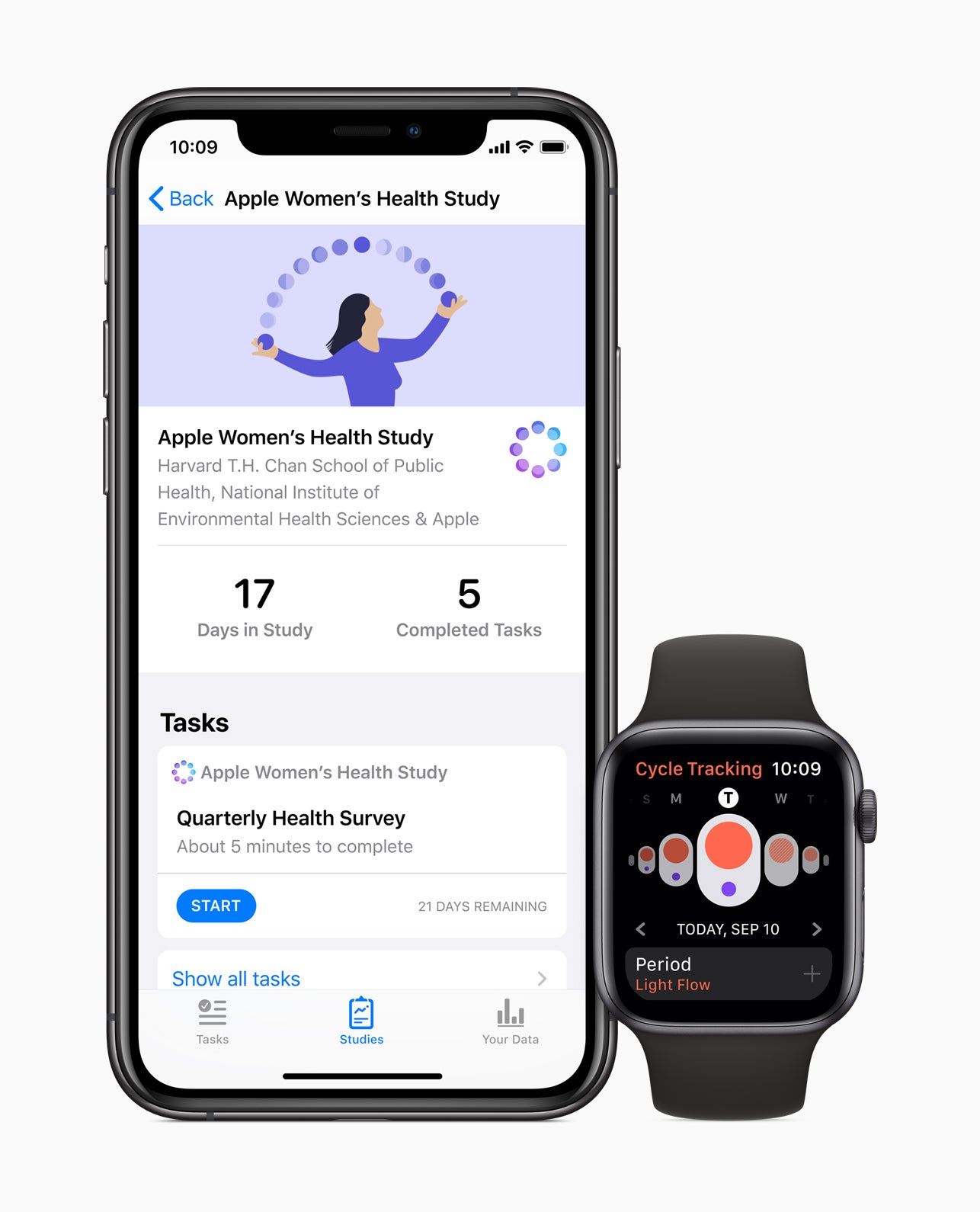 Apple Watch health survey screenshot