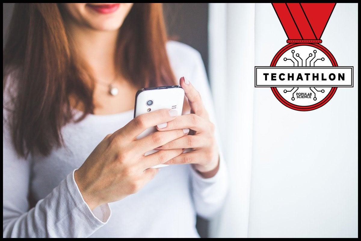 Bad texting Techathlon game.