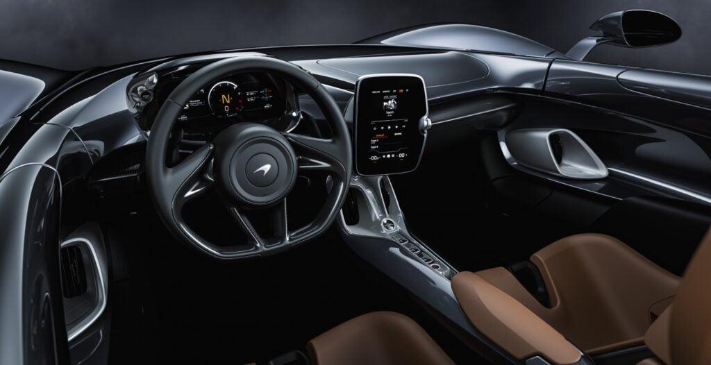 McLaren Elva interior view
