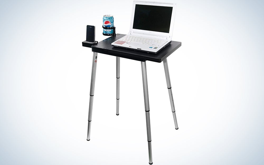 Tabletote Plus Black Portable Compact Lightweight Adjustable Computer Stand