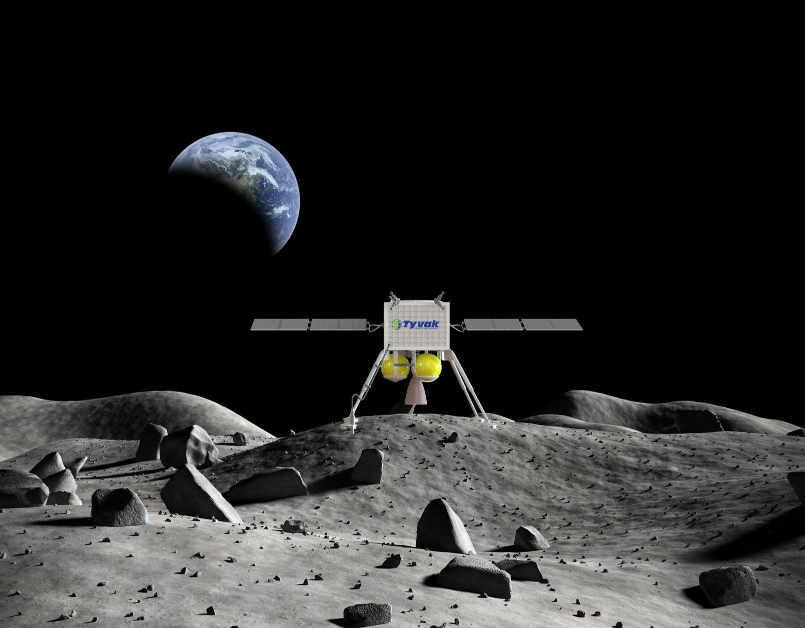 image of moon lander