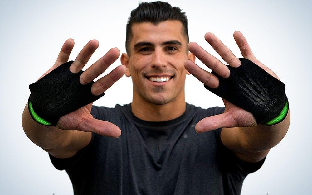 Bear KompleX 3 Hole Leather Hand Grips