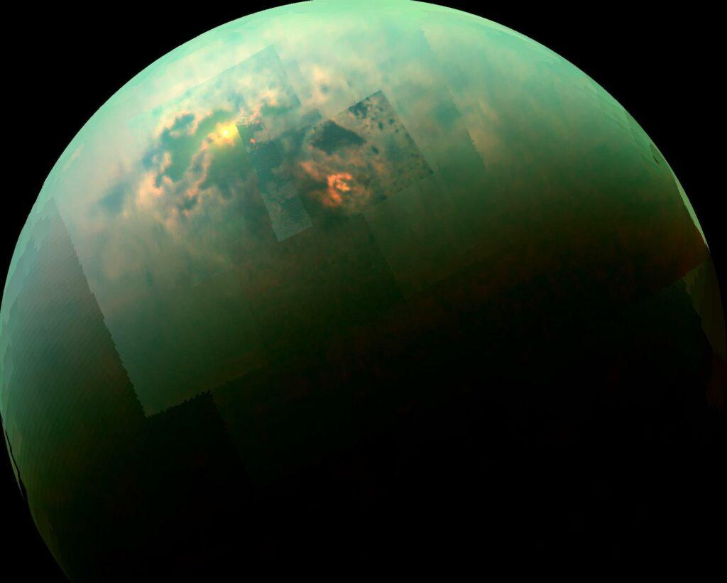 titan imaged in near-infrared