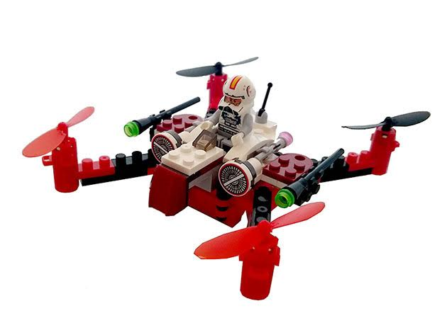 Space Fighter Building Block Drone