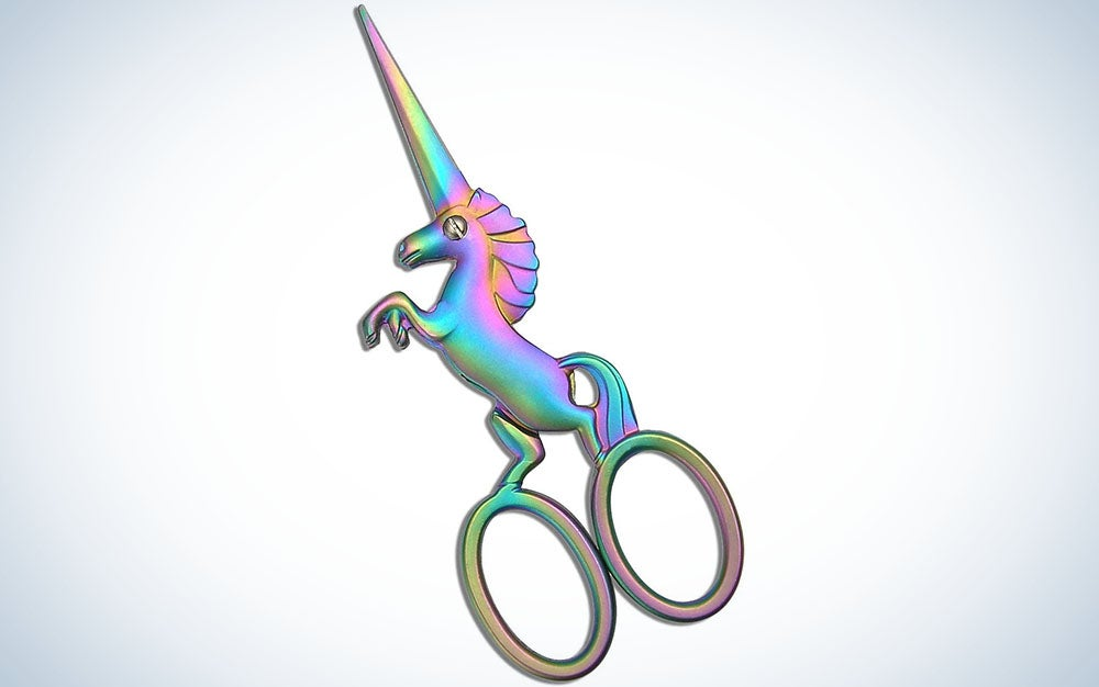 Hitopty Unicorn Embroidery Scissors