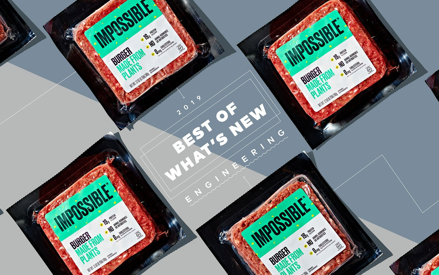 Impossible plant based burger packaging